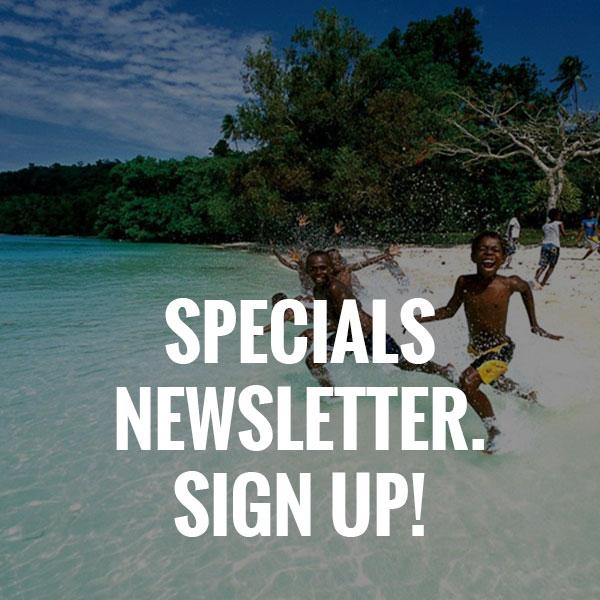 Vanuatu Holiday Deals -  Specials Newsletter Sign Up